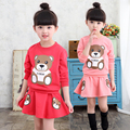 Female child set child long-sleeve sports spring and autumn skirt fashionable casual 2016 children's clothing 2 - 9
