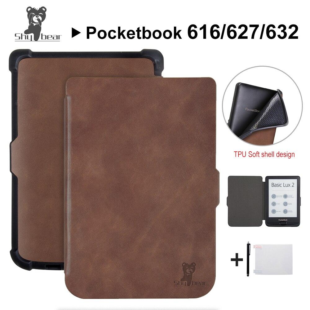 חכם מקרה לארנק 616/627/632 6 ''ספר מקרה עבור PocketbooBasic lux2 ספר/מגע/ lux4 מגע hd 3 כיסוי מקרה + מתנות