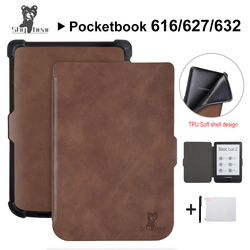Smart case for Pocketbook 616/627/632 6'' Book case for PocketbooBasic lux2 book /touch/lux4 touch hd 3 cover Case+Gifts
