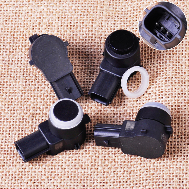 4pcs Black 1EW63RXFAA,0263003795 High Quality Plastic Rear Parking Sensor with O-Ring Assist PDC for Dodge Ram 3500 2013