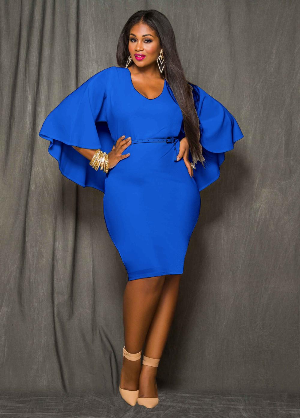 Red Black White Plus Size Cape Dress Women O Neck Poncho Cloak Dress ...