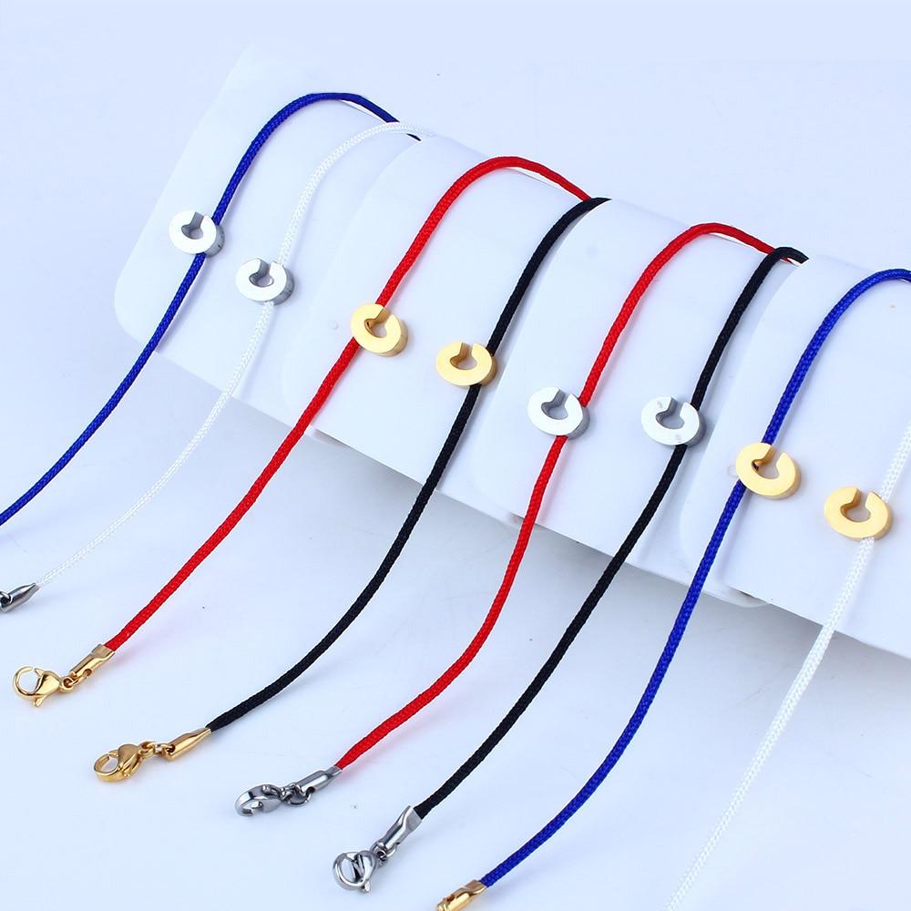 93238e4c51917 US $1.22 44% OFF|ZUUZ Red String Letter id bracelets bangle couple for  women wholesale lots bulk jewelry accessories silver charm men  friendship-in ...