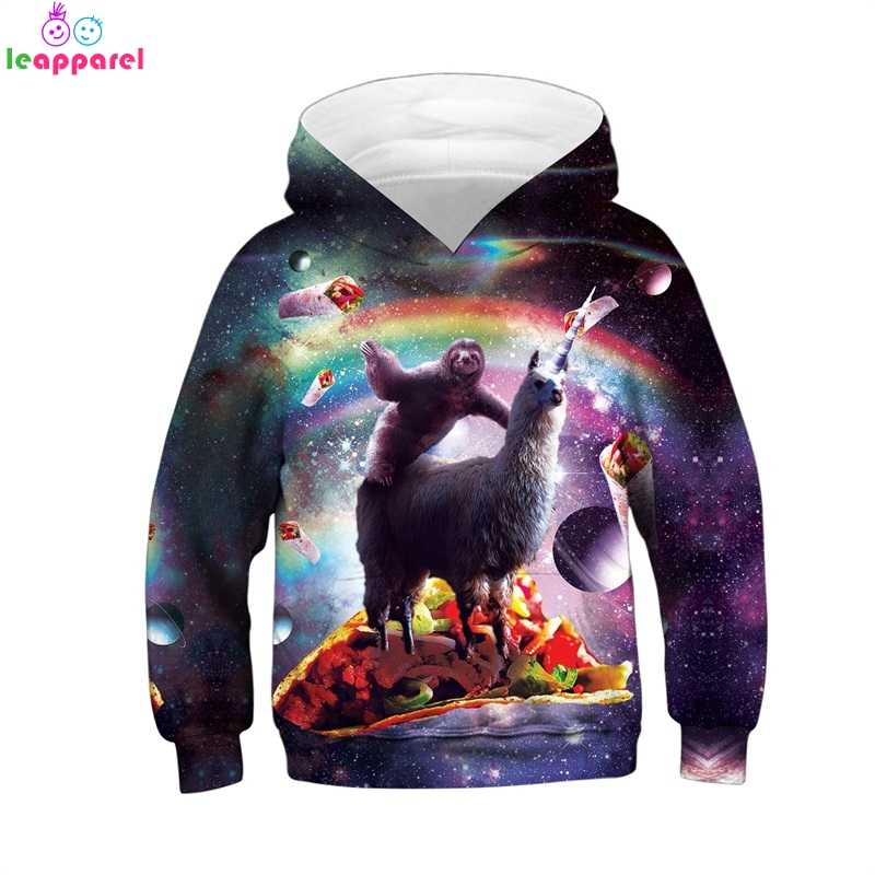 1d8ce5844 New Kids Hoodies 2019 Rainbow Sloth Alpaca Print 3D Autumn Winter Clothes  For Children Pullover Girls