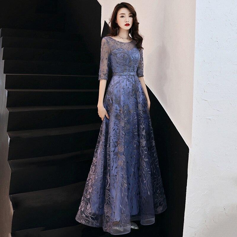 Party Dress Female 2019 New Fashion Summer Noble Women Dress Elegant Flower Embroidered Long Dress