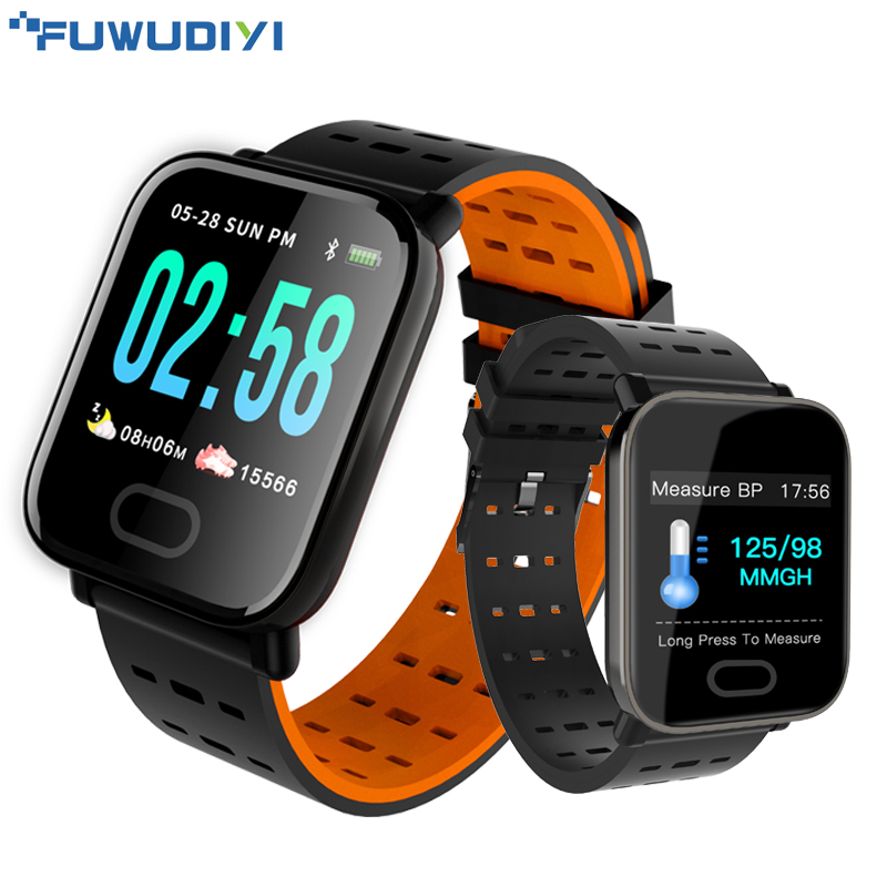 FUWUDIYI A6 Smart Watches Large Color Screen Fitness Tracker Watch Step Counter Activity Monitor Men Smartwatch for IOS Android