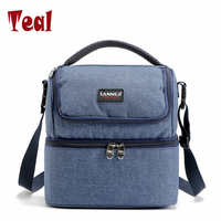 Lunch Bags For Men Women Picnic Bag Cooler Tote Handbags Lunchbox Food 7L Double Layer Lunch
