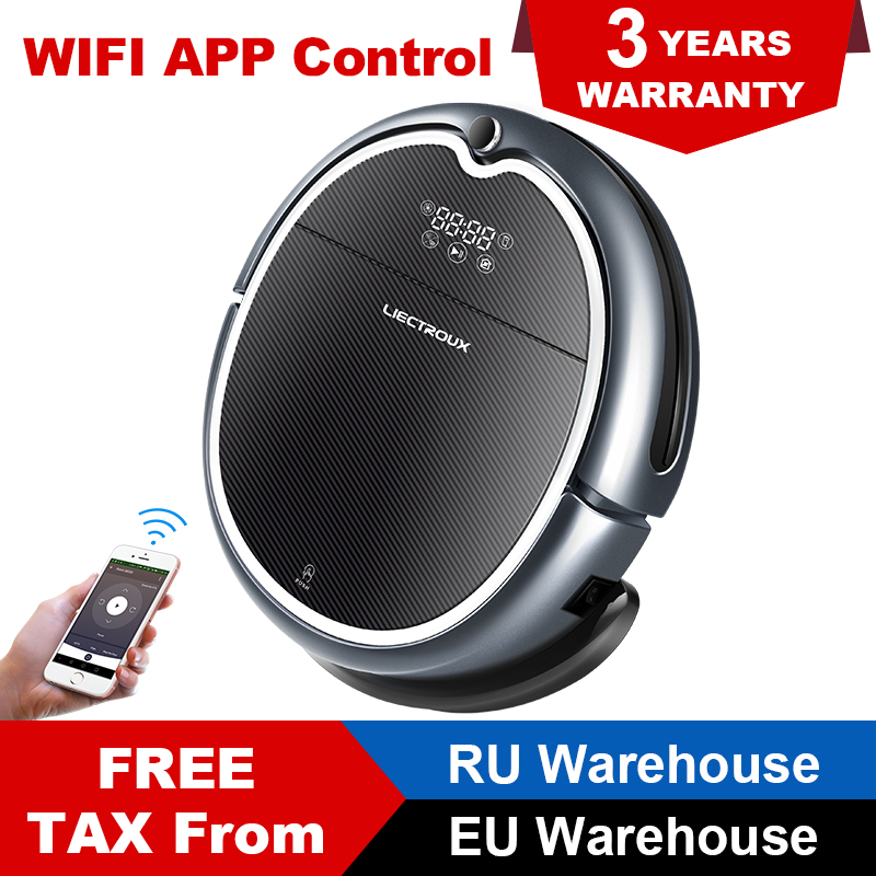 LIECTROUX Robot Vacuum Cleaner Q8000, WiFi Map Navigation Wet Dry Mop Strong Suction Smart Memory UV Light Virtual Blocker
