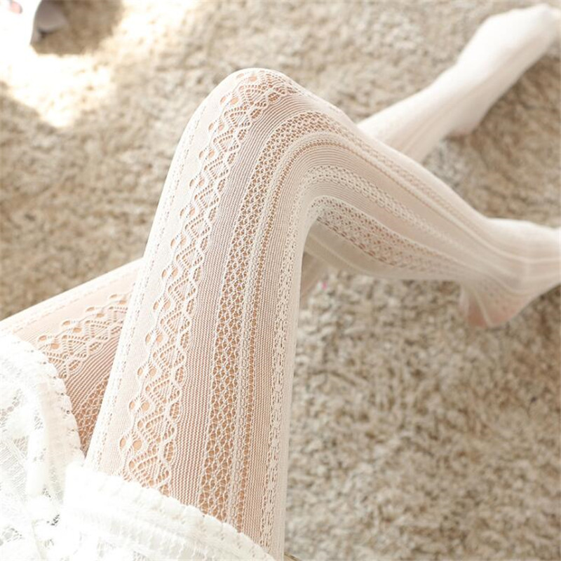 Hot New Japan Style Sexy Maid <font><b>Lolita</b></font> Socks Lace Pantihose Knit Stocking Cosplay Costumes Accessories Anime Cartoon Girl Gift image