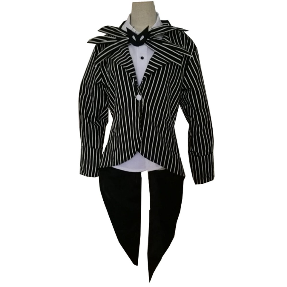 2018 The Nightmare Before Christmas Jack Skellington Anime Cosplay Costume Custom Made Three Styles For Choosing