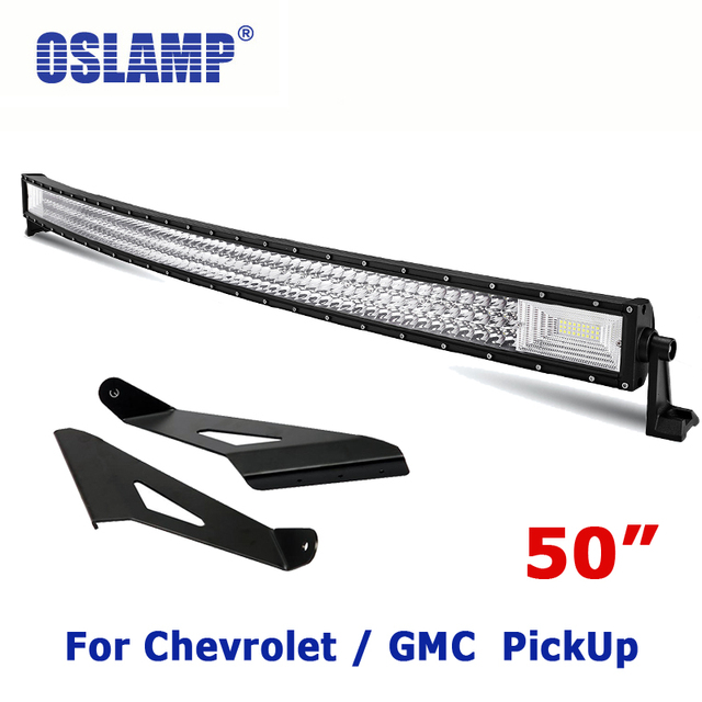 Oslamp for chevrolet silveradogmc sierra pickup 50 curved led oslamp for chevrolet silveradogmc sierra pickup 50 curved led light bar set offroad mozeypictures Images