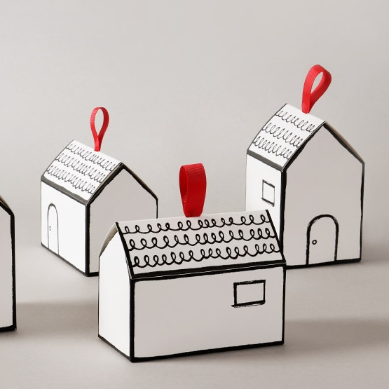 2 size choose 10 pcs handprint house design paper box for choclate food candy package storage for Home building package