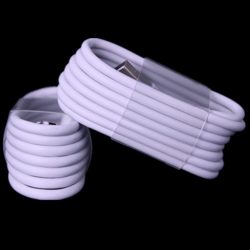 imágenes para Envío Gratis 200 unids/lote OD 3.0 Tela y Papel Grueso Cable Usb 8pin paquetes de accesorios para teléfono móvil 5 5S 6 6 s 7 plus laptop