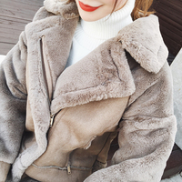 European and American Style Thick Warm Winter Faux Fur Jackets For Women New Arrival Lady Leather Coats Short Fur Overcoat C1348
