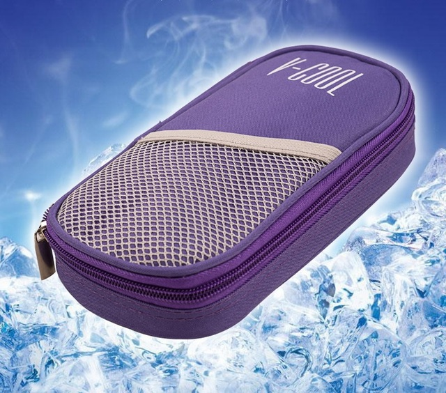 Insulin special cooling storage bag cooler box portable refrigerator drug freezer bolsa termica with two gelpacks