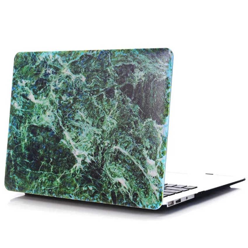 Étui rigide de carte d'impression de marbre pour 2018 nouveau Apple Macbook Air Pro Retina Touch Bar 11 12 13 15 pouces A1990/A1989 + couverture de clavier