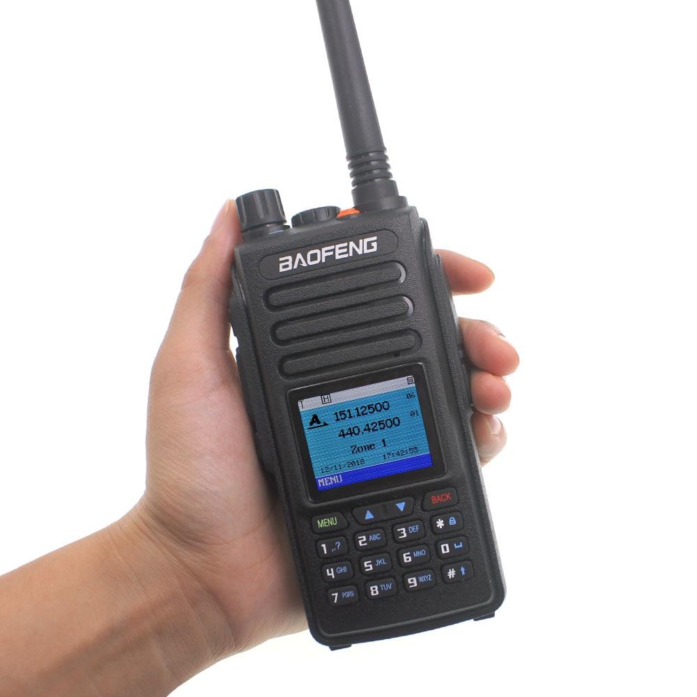 2019 Baofeng DMR DM-1702 GPS Walkie Talkie VHF UHF 136-174 & 400-470MHz  Dual Band Dual Time Slot Tier 1&2 Digital Radio