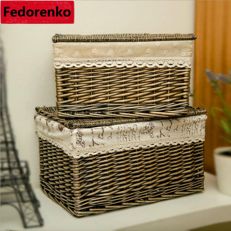Laundry basket with liner lid dirty clothes storage box cesto wardrobe organizer large big kids - Wicker laundry basket with liner and lid ...
