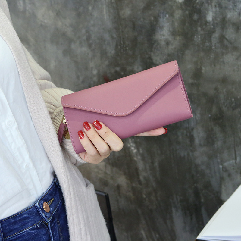 Womens cheque wallets and purses luxury brand famous Love tassel fancy Cluthes Slim ladies organizer card rfid wallets Bolsa