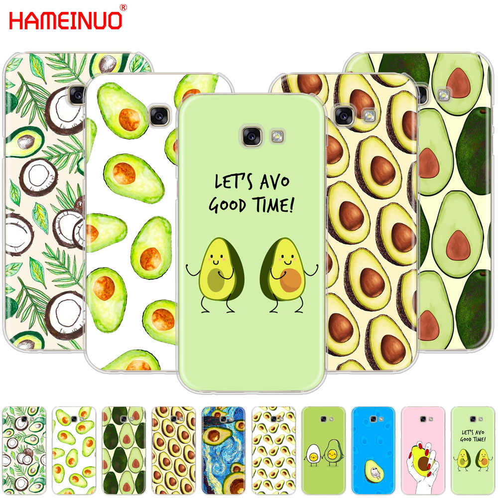 HAMEINUO Leuke Avocado Voedsel mobiele telefoon case cover voor Samsung Galaxy A3 A310 A5 A510 A7 A8 A9 2016 2017 2018