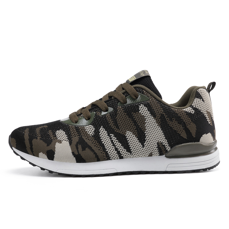2017 New Camouflage Military Unisex Running Shoes Men Women Breathable Flying Mesh Running Sneakers Comfortable krasovki
