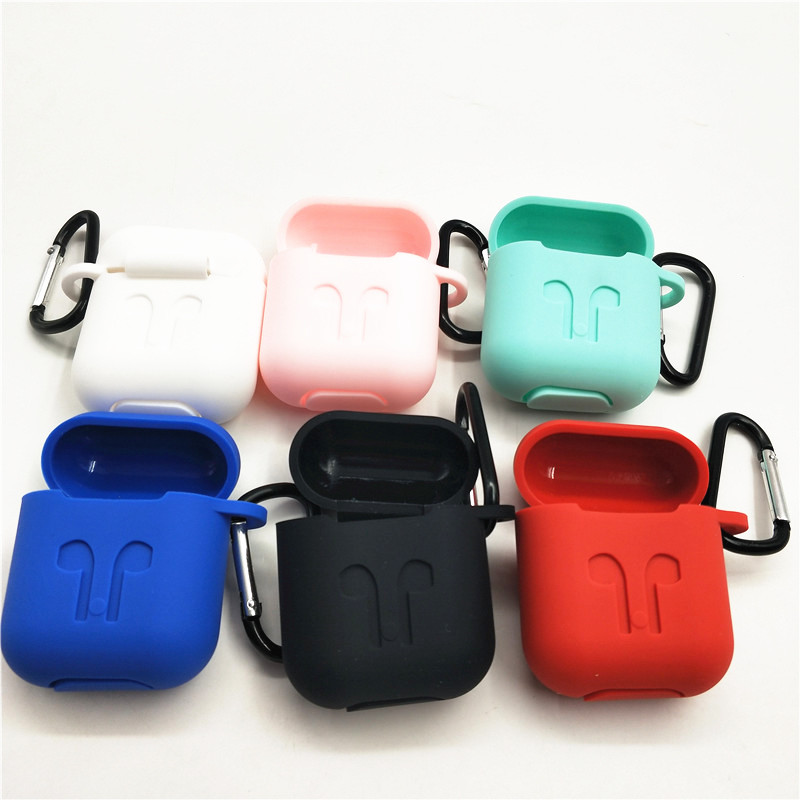 HEONYIRRY Protective Silicone Cover Case for AirPods Case Earpods Case for Apple Headphone for Airpod Case Charger Accessories protective matte silicone case for iphone 5 5s dark blue white