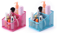 Mesh Net Metal  Desk Organizer Storage Three Checks  Pencil Holder Stand Penholder Container for Home Stationary