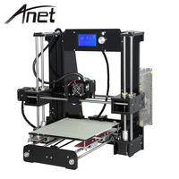 Anet A6 Full Acrylic Frame 3D Printer DIY Machine Industrial Extruder Reprap Prusa I3 10m Filaments