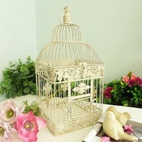 23*23*49cm European style decorative bird cage / window ornaments / white photography props / hotel wedding cage