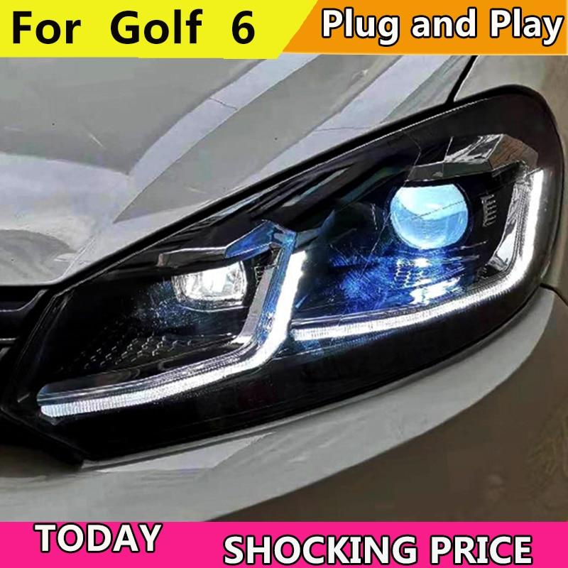 Car Styling For VW Golf 6 2009 2013 LED Headlight for MK6 Golf 6 Head Lamp