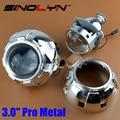 Coche Restyling de Metal Pro 3.0 pulgadas Lentes HID Bixenon Lente Del Proyector Del Faro Faros de Xenón Iluminación H4 H7, utilizar Bombillas de Xenón H1