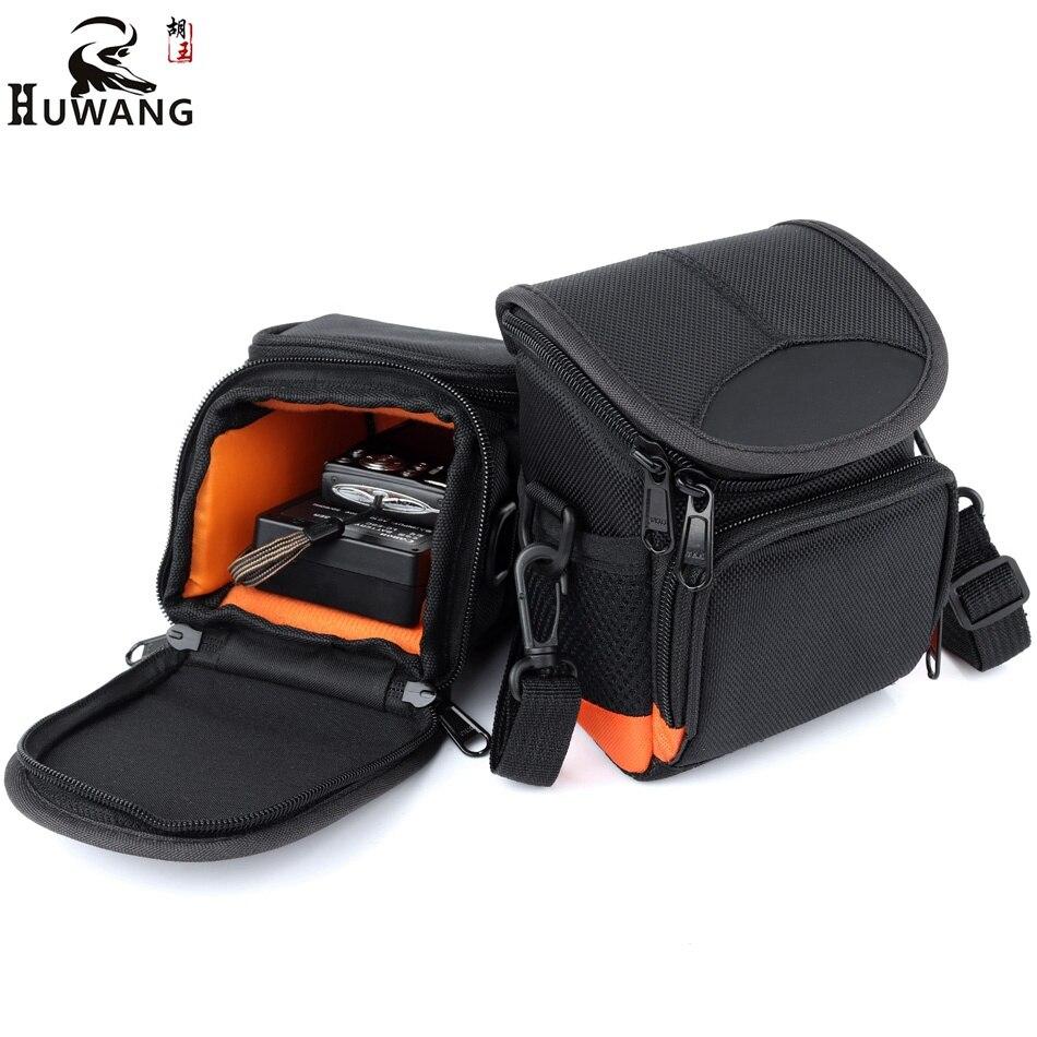 HUWANG Digital Camera Bag For Nikon J5 J4 J3 J L820 L830 AW1 Sony A5100 A6000 A5000 RX100 Canon Camera Sony Bag Case Waist Packs