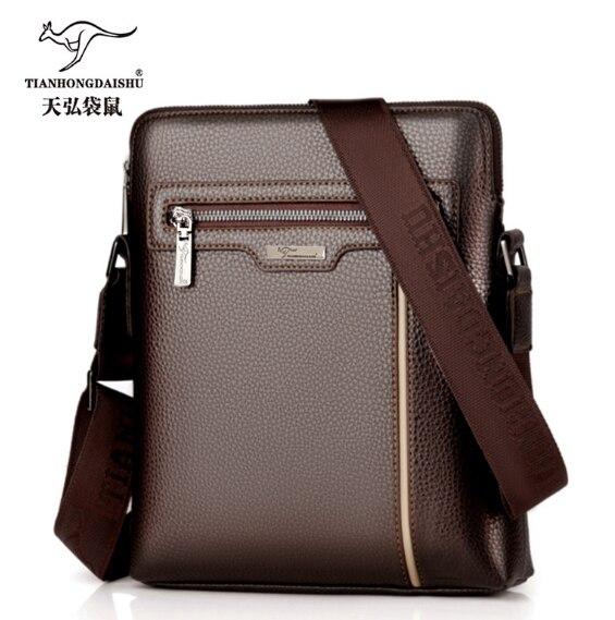 7e4d018df16c Купить Мужская кожаная сумка через плечо Мужская мягкая кожаная сумка  мессенджер мужская деловая IPAD Повседневная вертикальная сумка мужская  сумк.