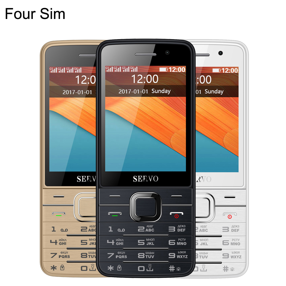 China V9500 9500 Student Mobile Phone With Four Quad SIM 4 SIM card 4 standby Bluetooth Flashlight 2.8inch Cheap Cell Phone GIFT image