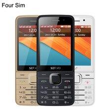 Китай V9500 9500 мобильный телефон для учащихся с четырьмя Quad SIM 4 sim-карты резервный Bluetooth-фонарик 2,8 дюйма дешевый сотовый телефон подарок