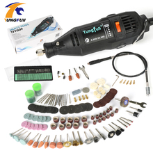 Dremel Style Electric Rotary Tool Variable Speed Mini Drill Rotary Tool Polishing Engraving Drilling With Flexible Shaft cutting