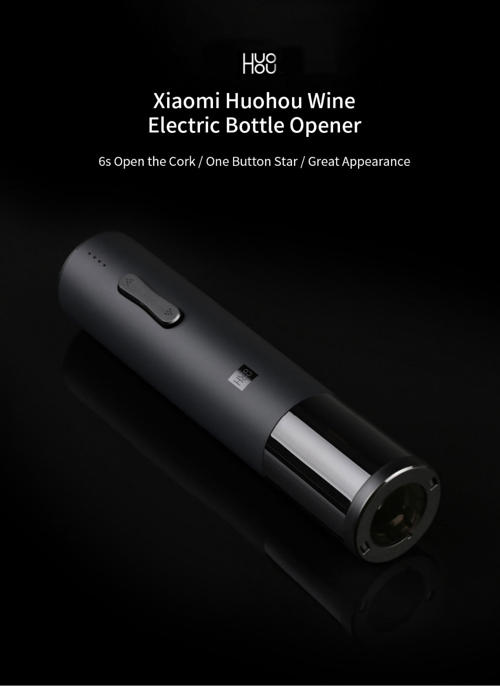 Xiaomi Huohou Automatic Red Wine BottleWine Stopper Electric Corkscrew Foil Cutter Cork Out Tool for Xiaomi Smart Home Kits H15 (8)