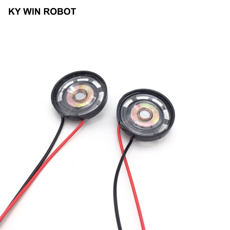 2pcs New Ultra thin Toy car horn 16 ohms 0 25 watt 0 25W 16R speaker Diameter 27MM 2 7CM with PH2 54 terminal wire length 10CM in Acoustic Components from Electronic Components Supplies