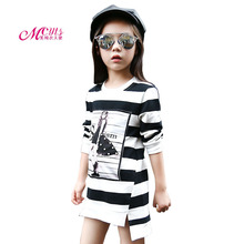 New Girls Dresses Spring Autumn Children Party Dress Cotton Long Sleeves Girls Princess Dress for Kids Clothes 4 6 8 10 12 Years kids dresses for girls sweaters 2017 new autumn cotton sweater dress for girls clothing school kids clothes 10 11 12 13 14 years
