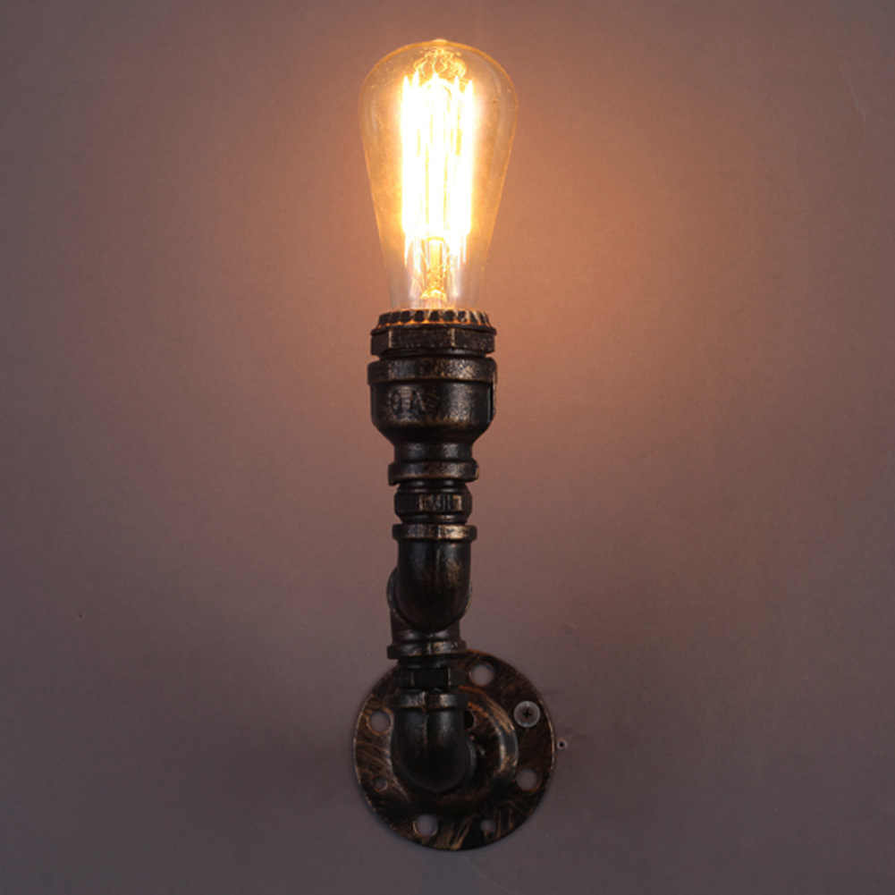 Лофт винтажный настенный светильник персонализированные бар освещение промышленная старинная водопроводная труба настенный светильник E27 Античные светильники