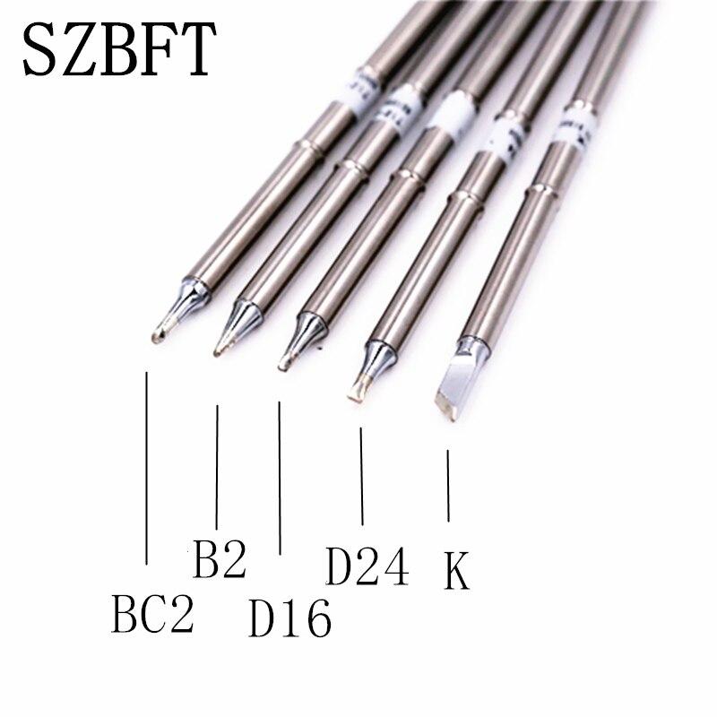 Puntas de soldadura de hierro SZBFT para la estación de retrabajo de soldadura Hakko FX-951 FX-952 T12-K / T12-BC2 / T12-B2 / T12-D24 / T12-D16 envío gratis