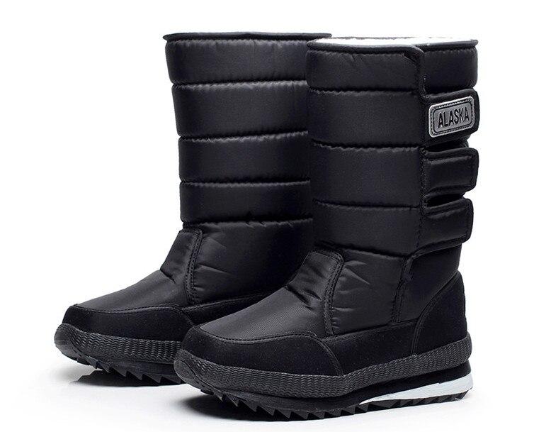 30 Warm Plush Snow Shoes for Men Winter Boots Winter men s velvet snow boots