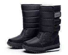 -30 Теплые Плюшевые Снегоступы для Мужчин Зимние Ботинки Зимние мужчин бархат снег сапоги непромокаемую обувь высокие топ мужские ботинки хлопка мех