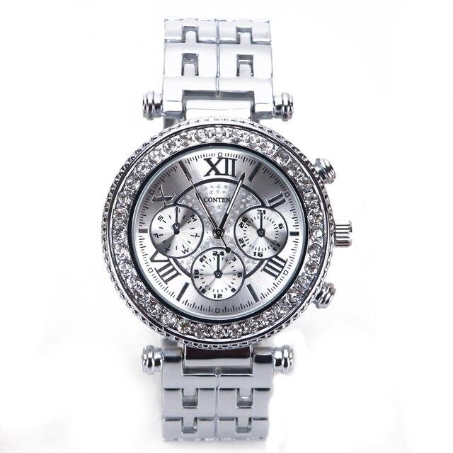 Fabuleux Dames de mode Montre Argent Femmes Marque De Luxe montre-Bracelet  CL01