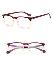 Latest Trend Cross Eye Glasses Frames For Women UV400 Men Glasses Retro Eyeglasses