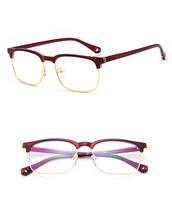 Latest Trend Cross Eye Glasses Frames For Women UV400 Men Glasses Retro Eyeglasses