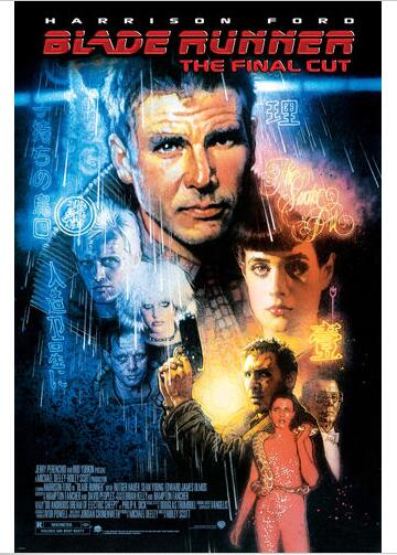 BLADE RUNNER MOVIE POSTER harrison FORD sean YOUNG SCI-FI film noir SILK POSTER Decorative painting 24x36inch image