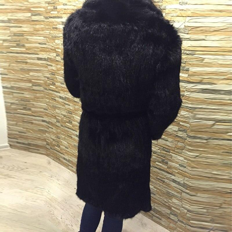 Mon As Bffur Où Avec Marque Esprit Vison Luxe Veste Est Fourrure Vêtements Manteaux Naturelle 2018 D'hiver Picture Tricoté Noir Femmes Parc De qRxOwqrB4F