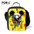 FORUDESIGNS Brand Boy Girl Lunch Bag Punk Style Insulated lunch Bag Skull Print Picnic Food Container Mother Baby Thermal Lunch
