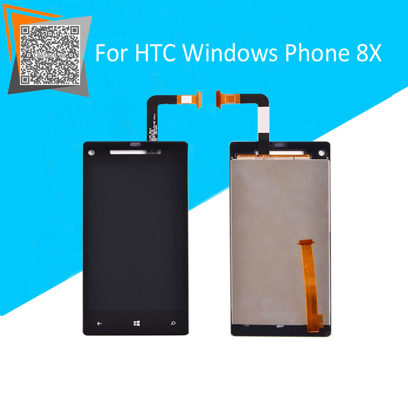4.3 for HTC Windows Phone 8X Full LCD Display Panel Screen Touch Screen Digitizer Glass Lens Assembly