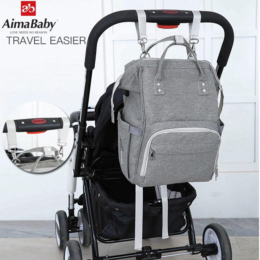 Mode USB-Lade Mummy Windel Taschen Große Kapazität Wasserdichte Reise Mutterschaft Rucksack Baby Wickeltasche Wickeltasche Baby Organizer